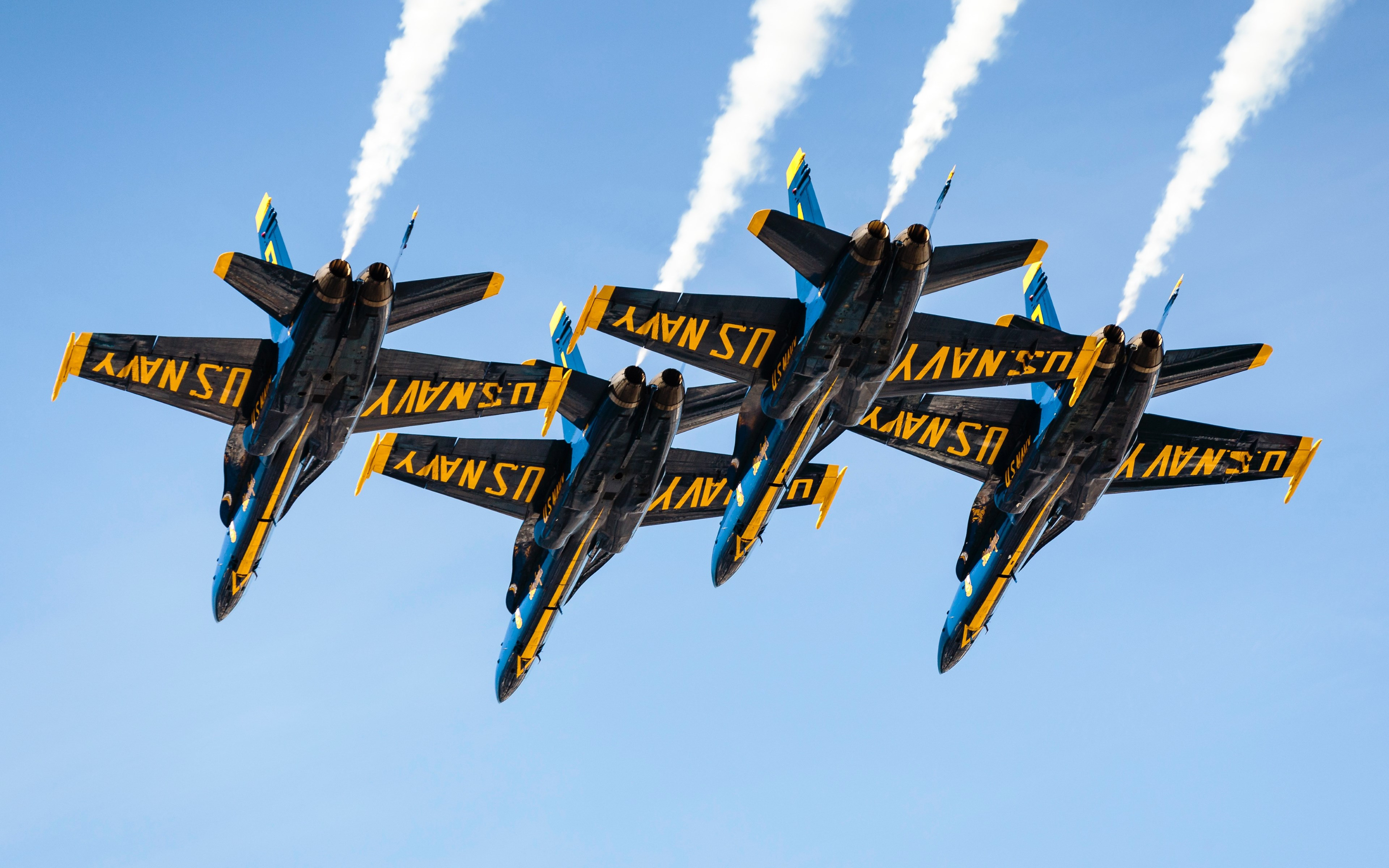 Blue Angels at San Francisco airshow wallpaper 3840x2400