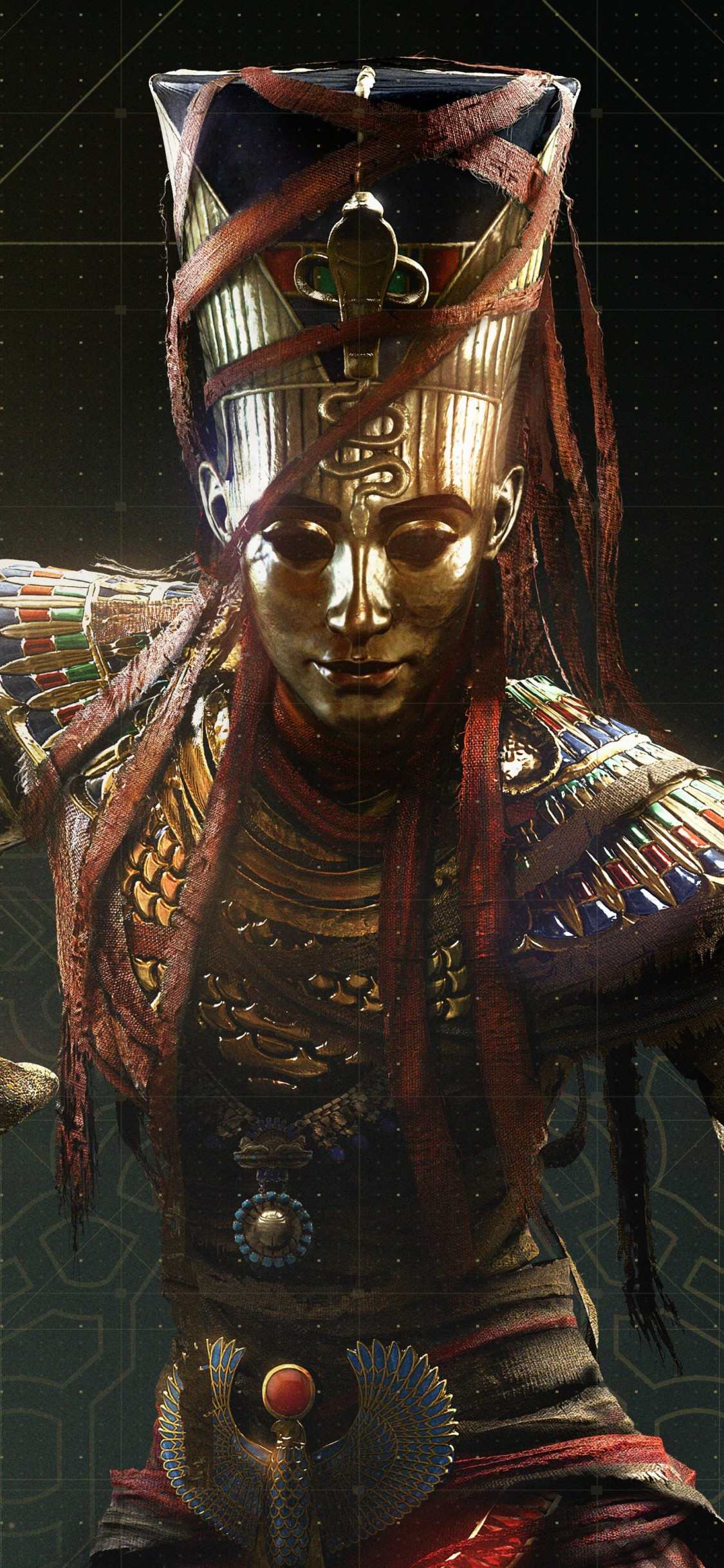 Nefertiti from Assassin's Creed Origins wallpaper 1125x2436
