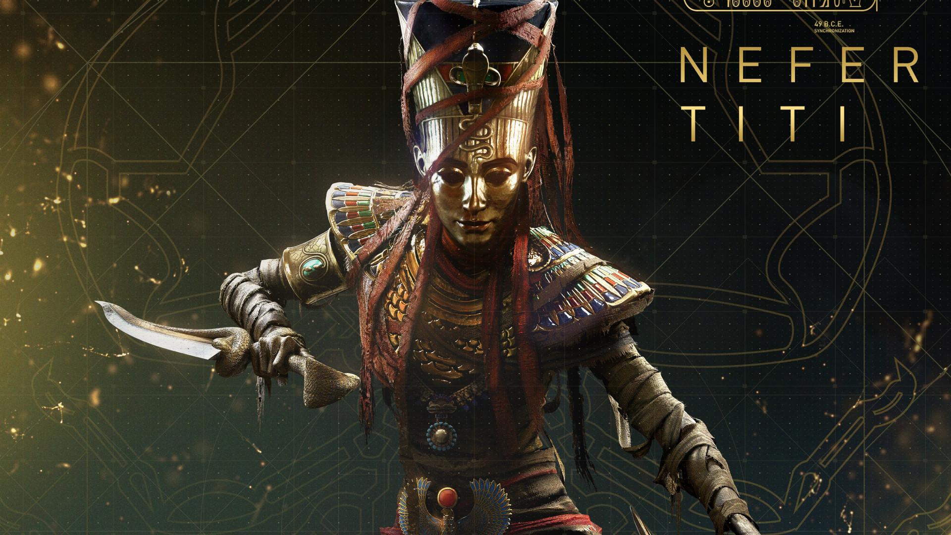 Download Wallpaper Nefertiti From Assassin S Creed Origins 1920x1080