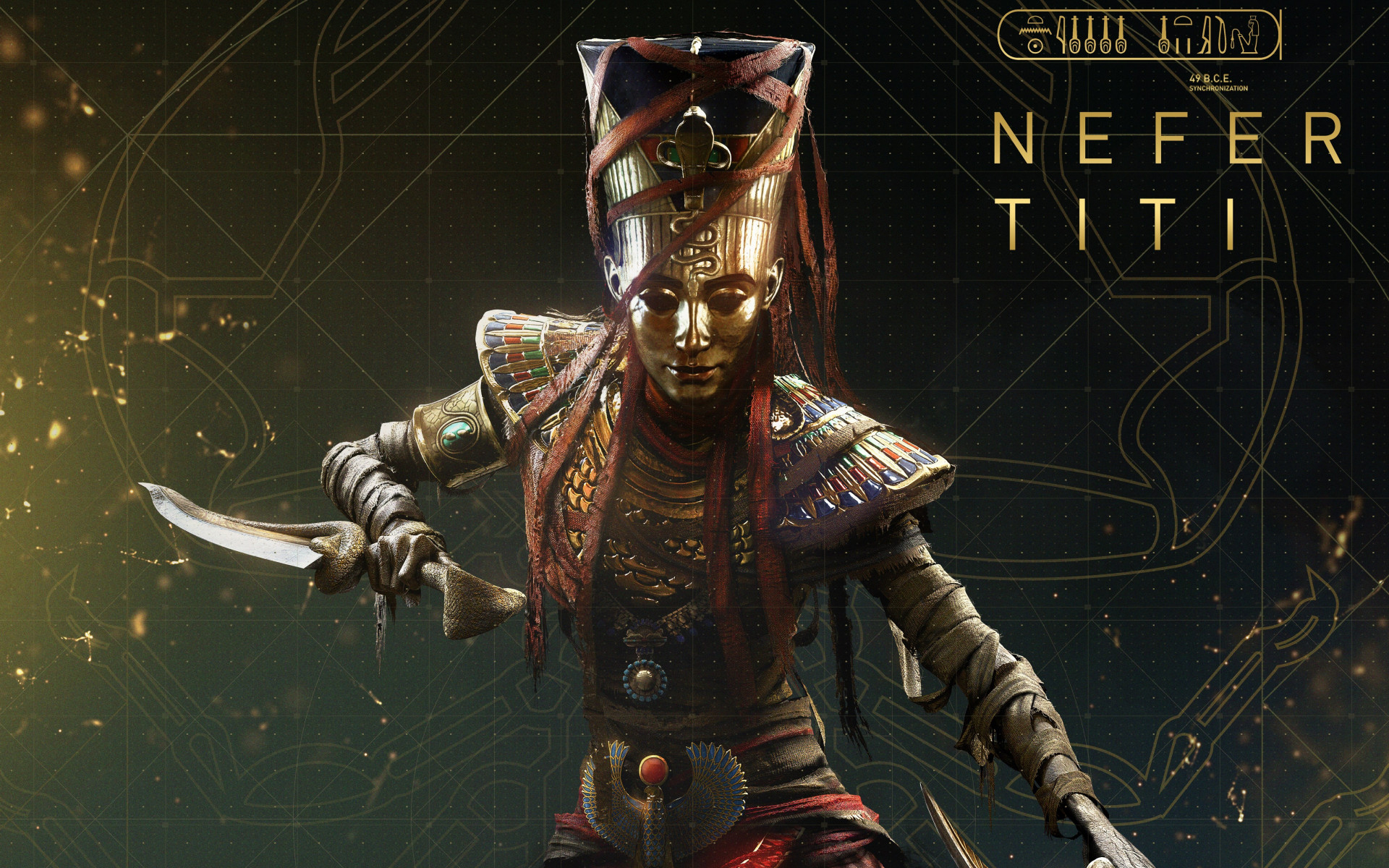 Nefertiti from Assassin's Creed Origins wallpaper 1920x1200
