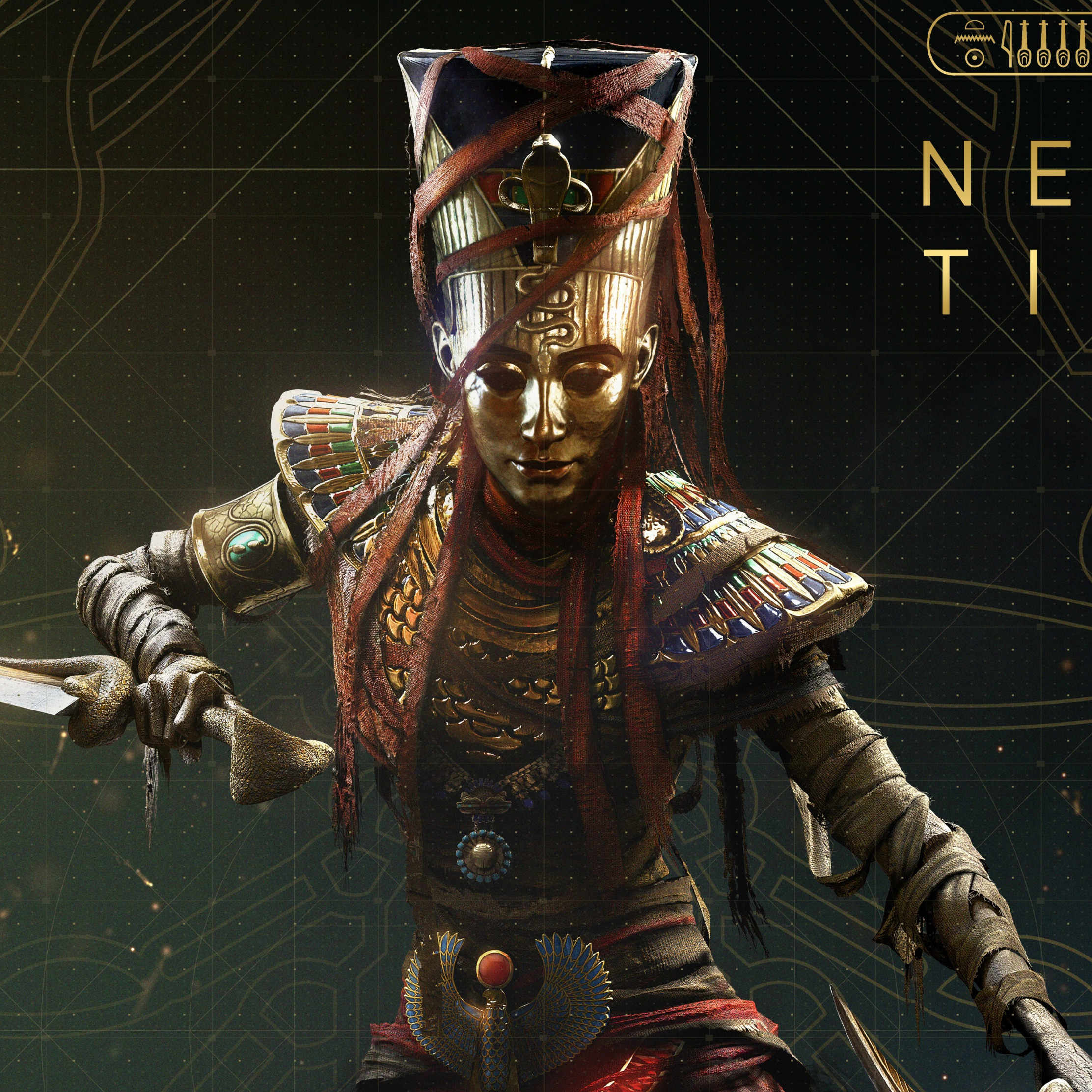 Download Wallpaper Nefertiti From Assassin S Creed Origins 2224x2224