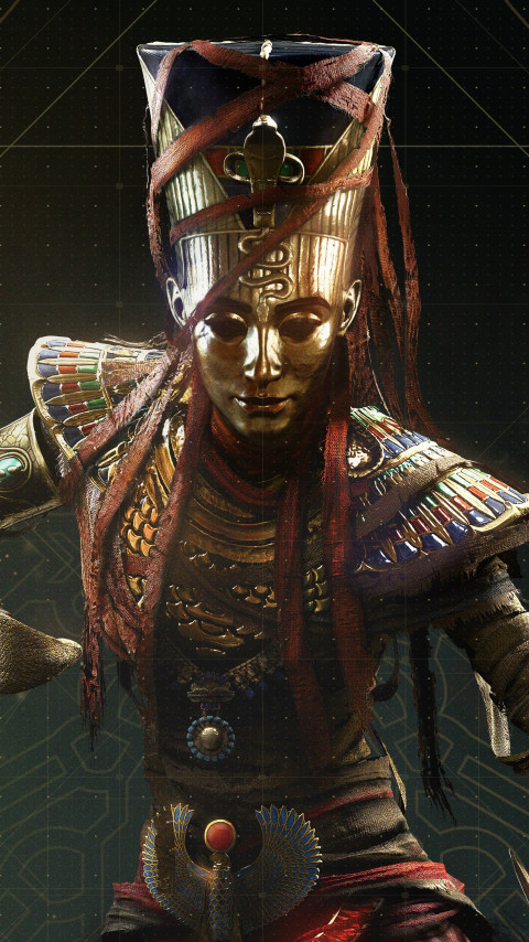 Nefertiti from Assassin's Creed Origins | 480x854 wallpaper