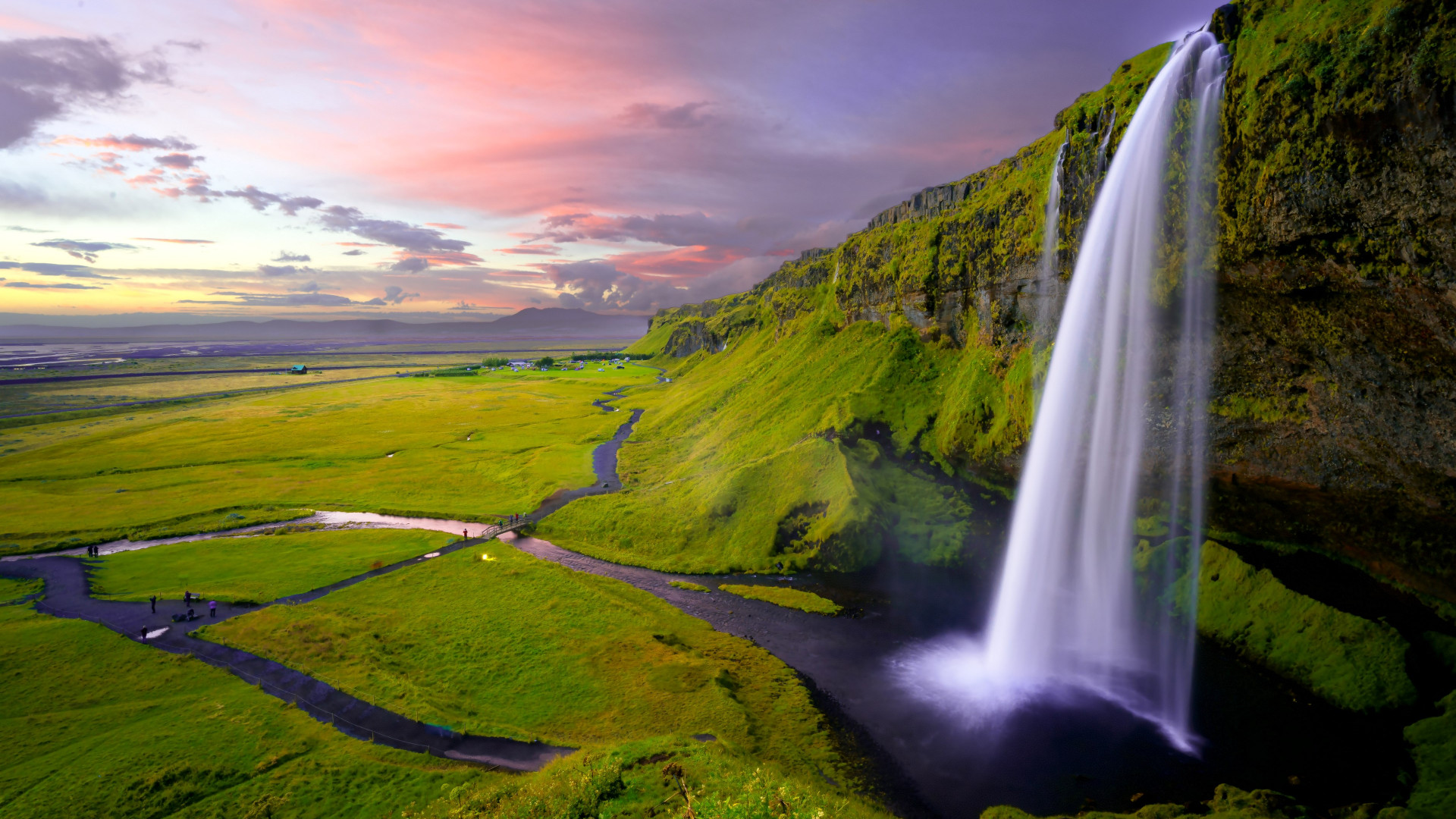 Seljalandsfoss waterfall wallpaper 1920x1080