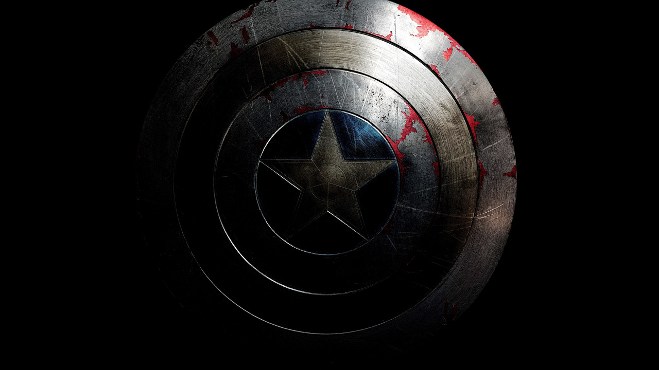 The shield of Captain America wallpaper 1280x720