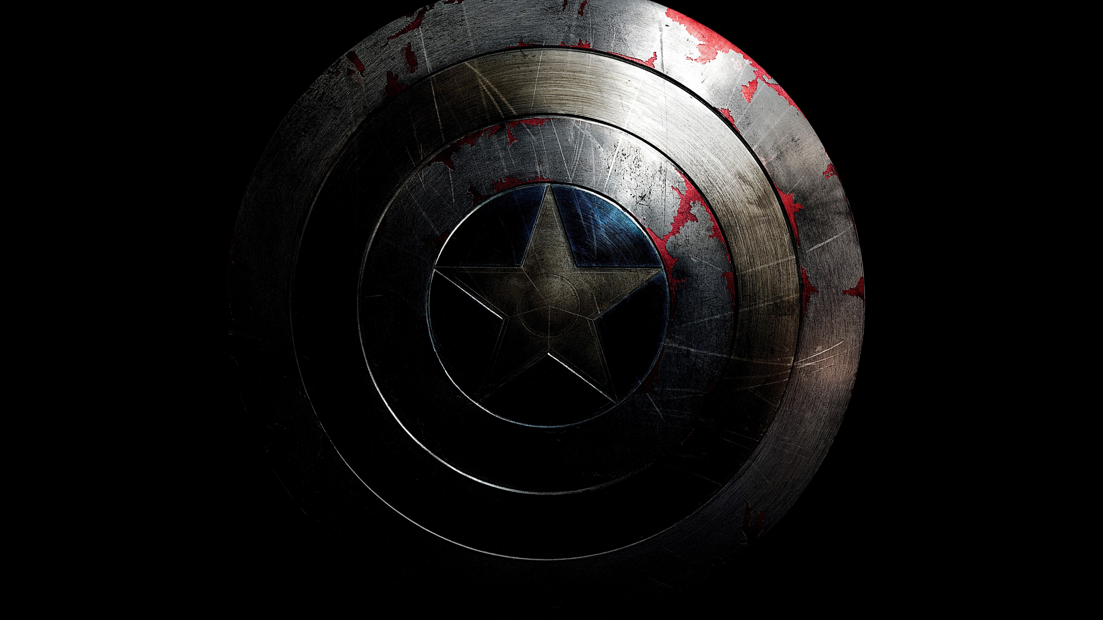 The shield of Captain America wallpaper 3840x2160