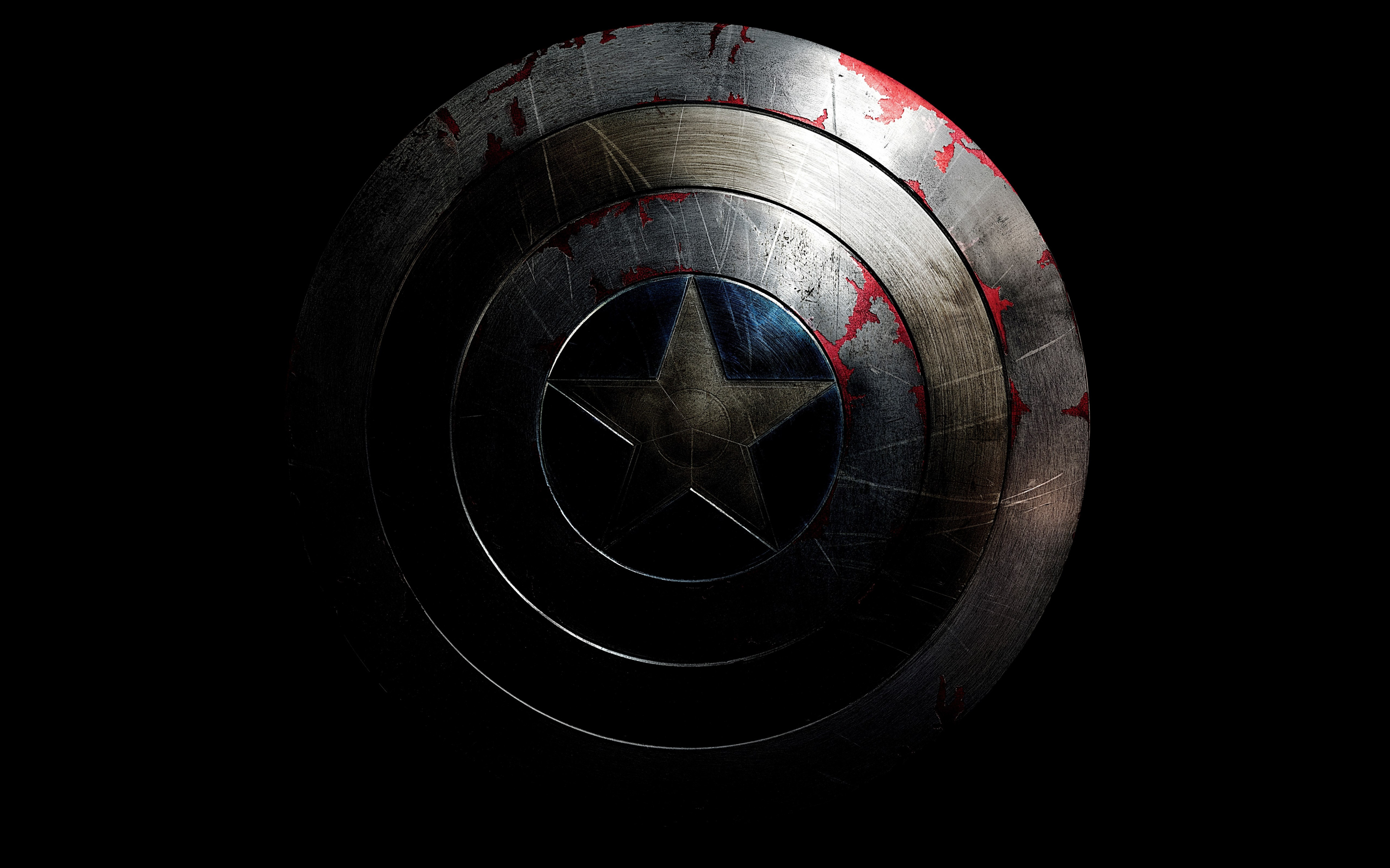 The shield of Captain America wallpaper 3840x2400