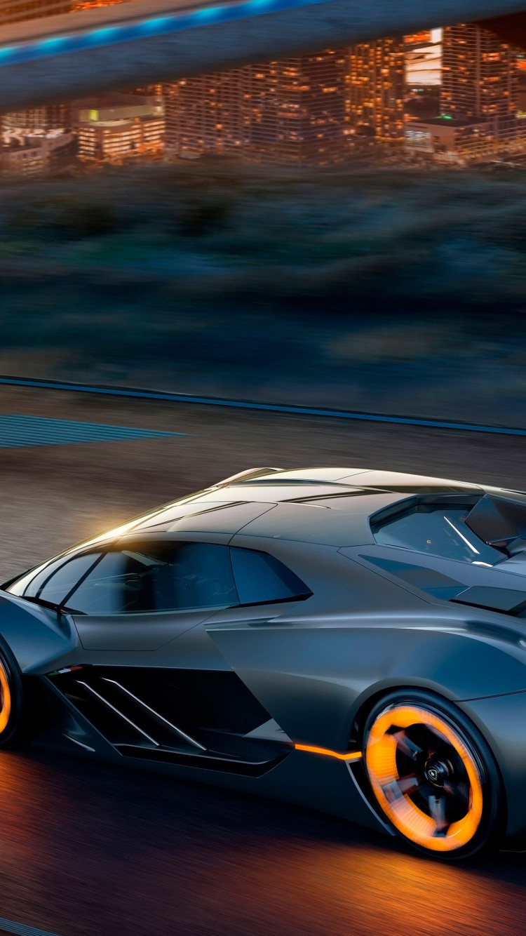 Lamborghini Terzo Millennio electric car wallpaper 750x1334