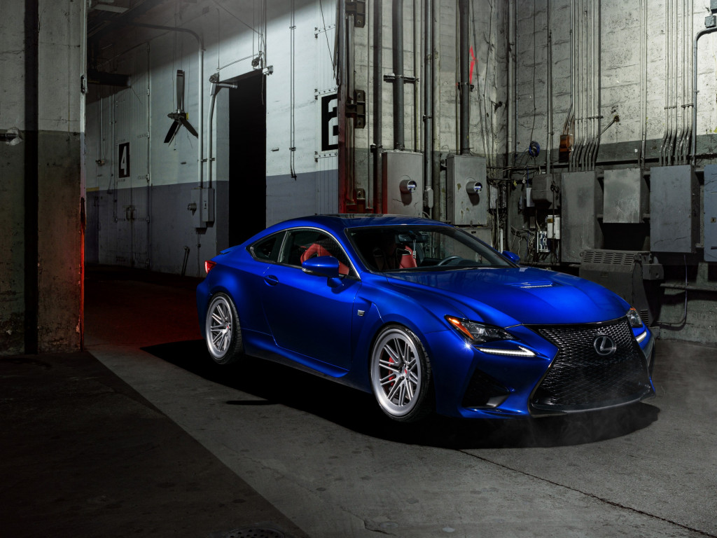Blue Lexus RC F wallpaper 1024x768