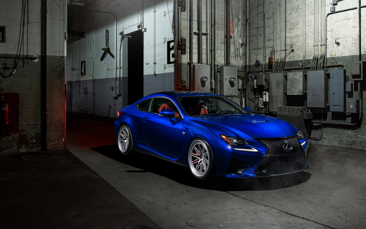 Blue Lexus RC F wallpaper 1440x900