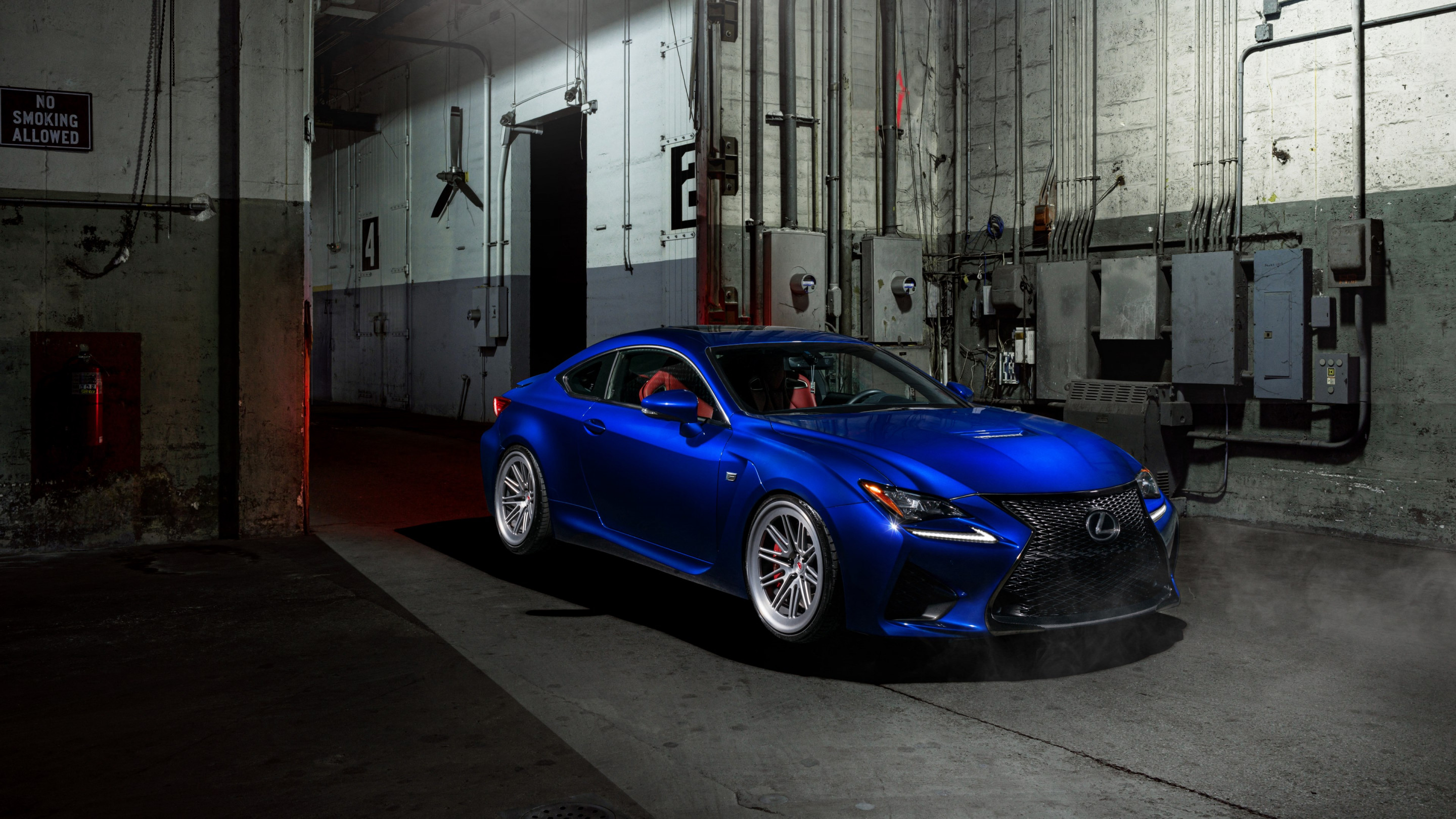 Blue Lexus RC F wallpaper 2880x1620