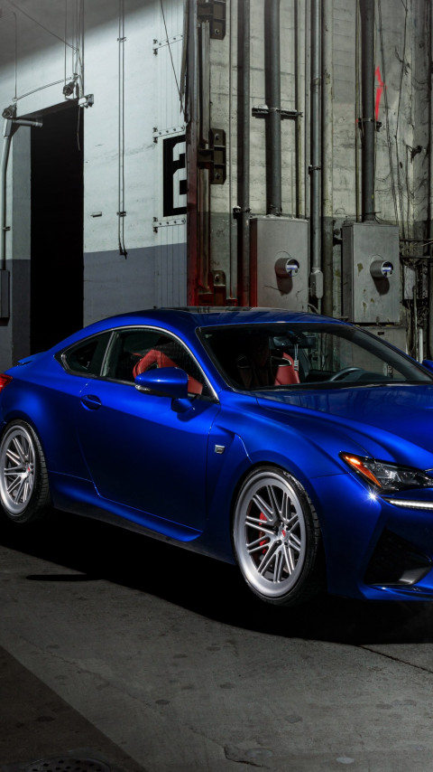 Blue Lexus RC F wallpaper 480x854