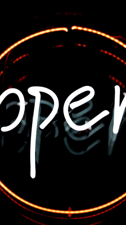 Open logo in light wallpaper 480x854