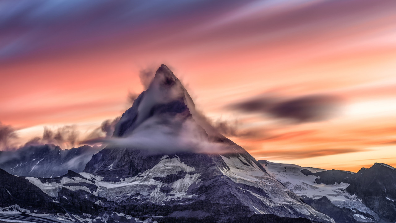 Matterhorn mountain from Alps wallpaper 1280x720