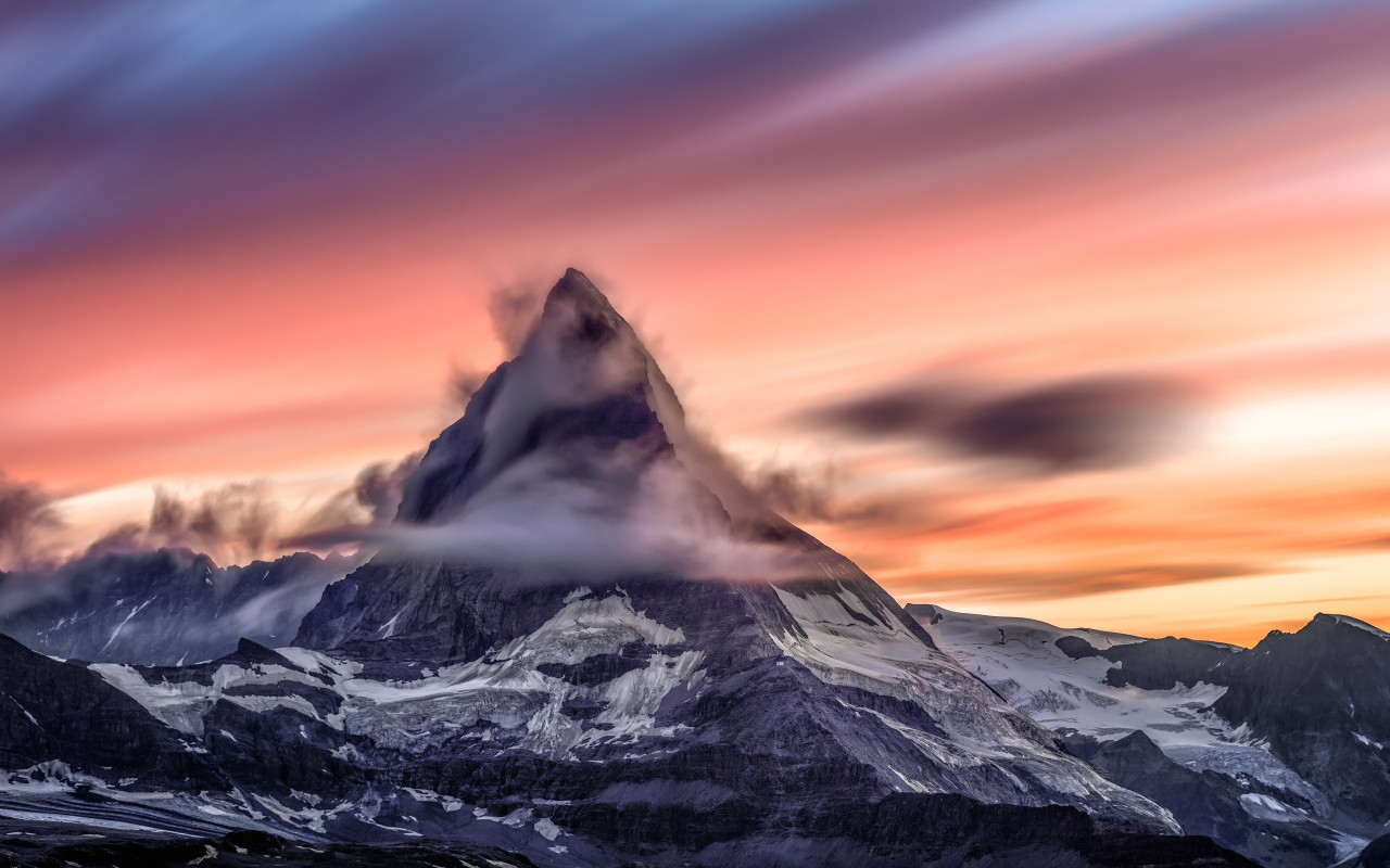 Matterhorn mountain from Alps wallpaper 1280x800
