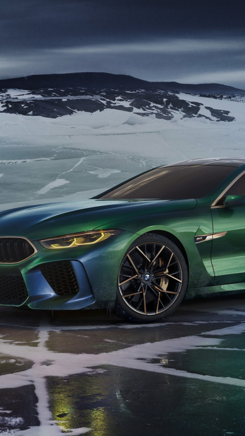 BMW Concept M8 Gran Coupe 2018 | 480x854 wallpaper