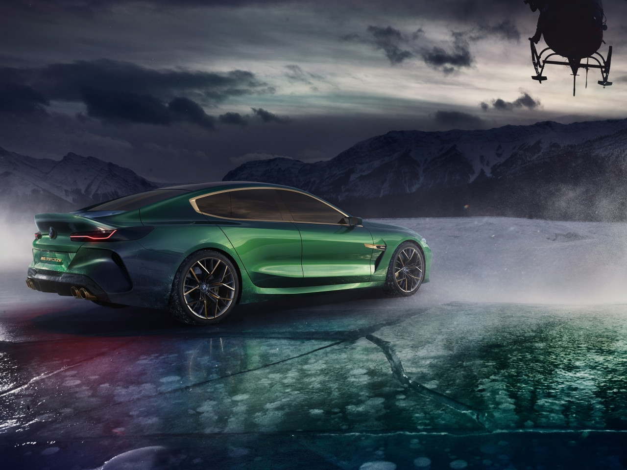 BMW Concept M8 Gran Coupe 2018 rear side | 1280x960 wallpaper