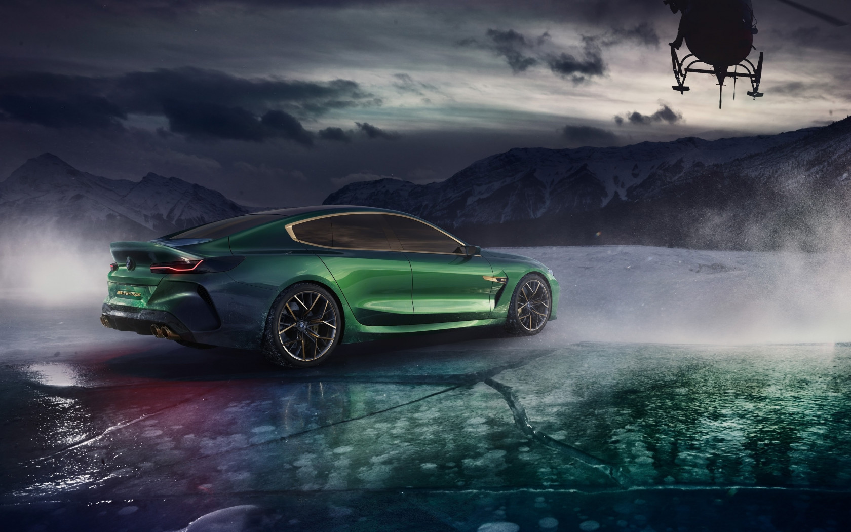 BMW Concept M8 Gran Coupe 2018 rear side wallpaper 1680x1050