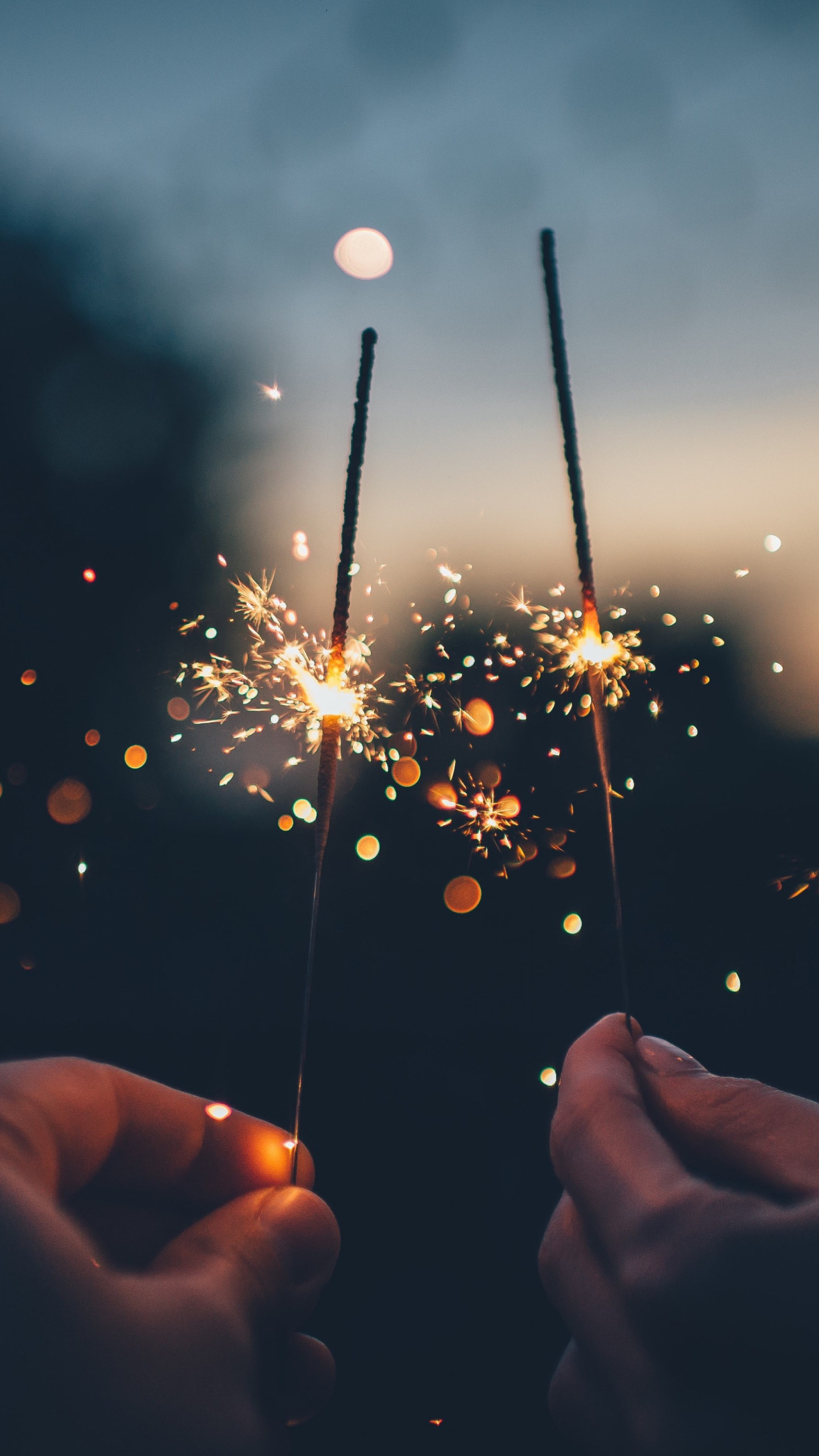 Two fireworks wallpaper 1440x2560