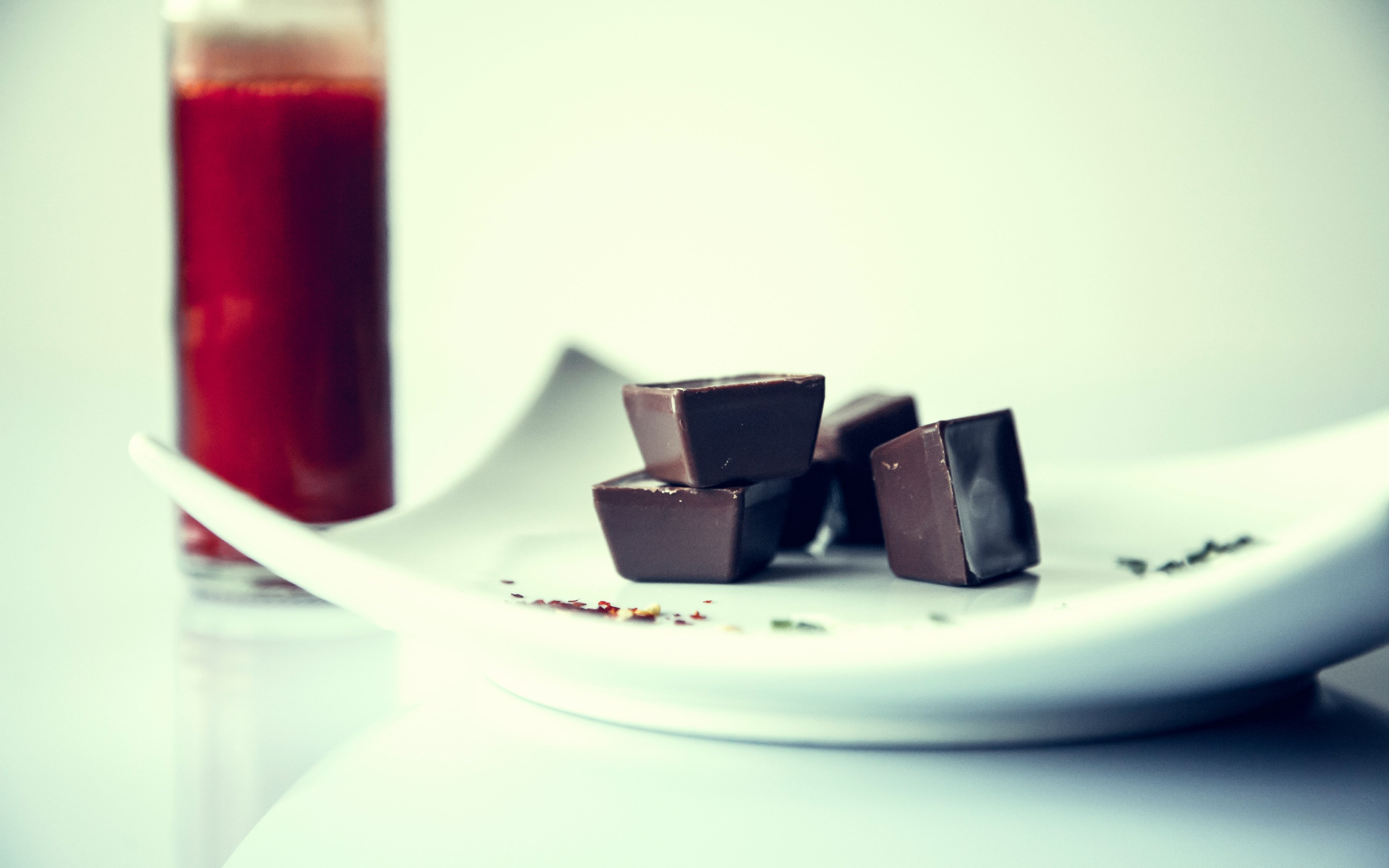 Chocolate and fresh drink wallpaper 3840x2400