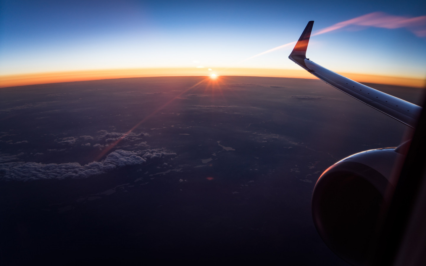 In the plane watching the sunset wallpaper 1440x900