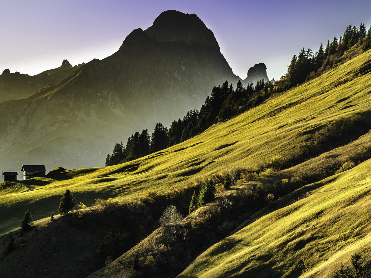 Alpine landscape wallpaper 1280x960
