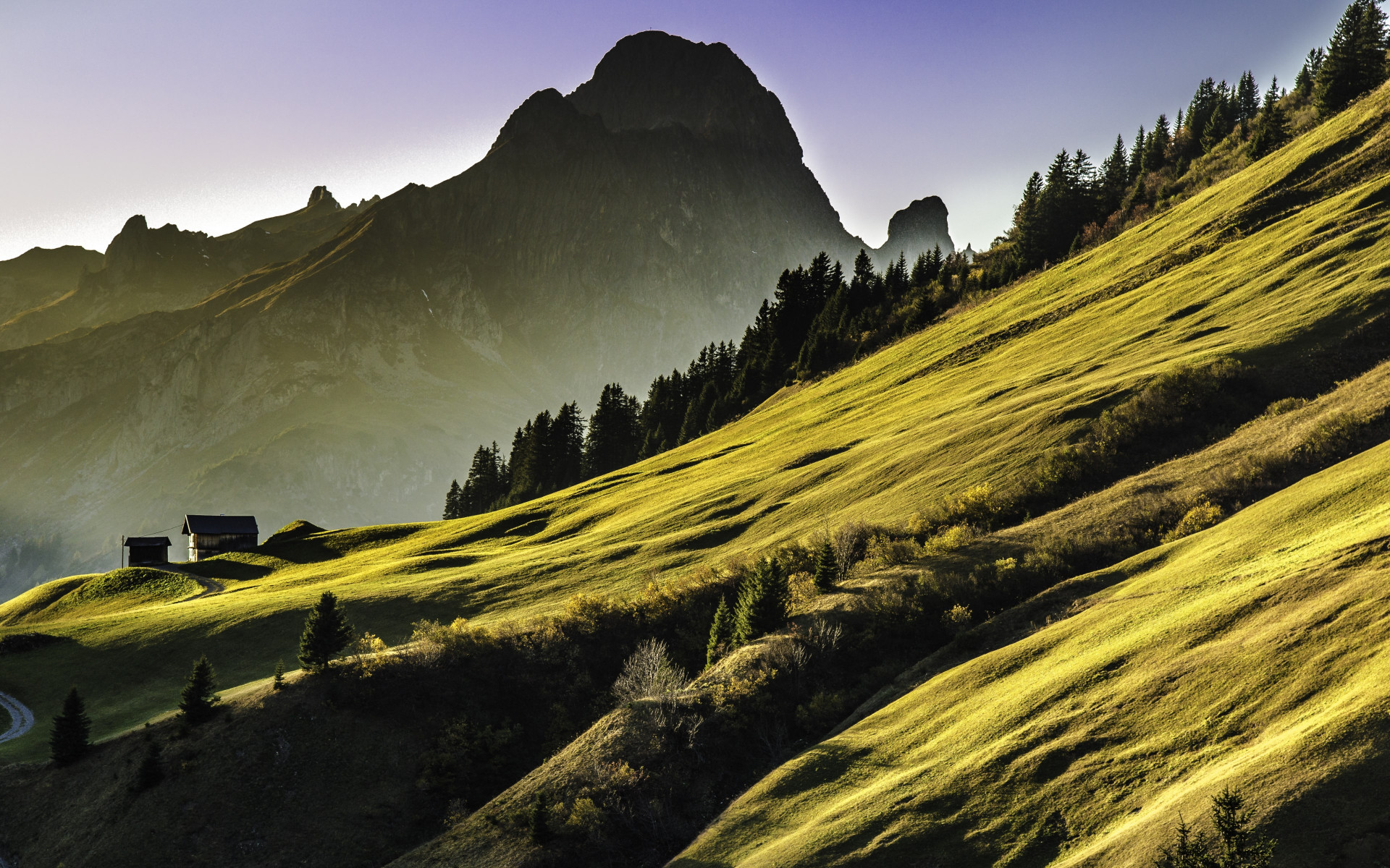 Alpine landscape wallpaper 1920x1200
