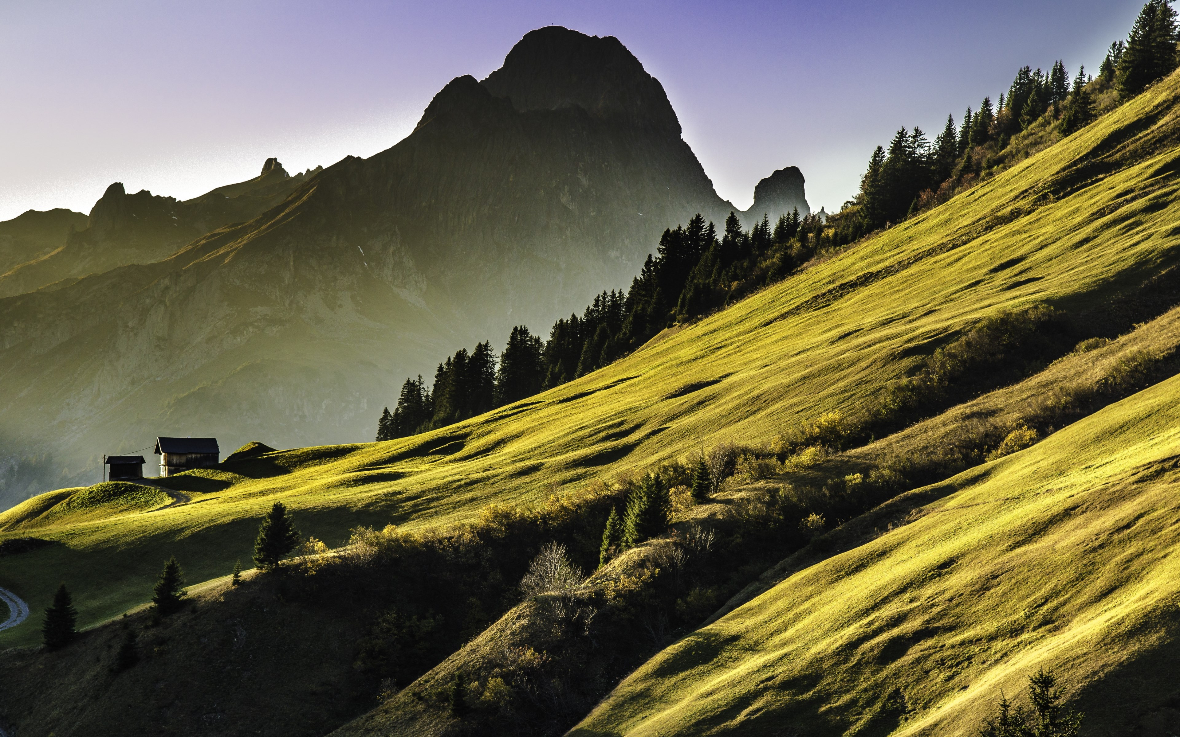 Alpine landscape wallpaper 3840x2400