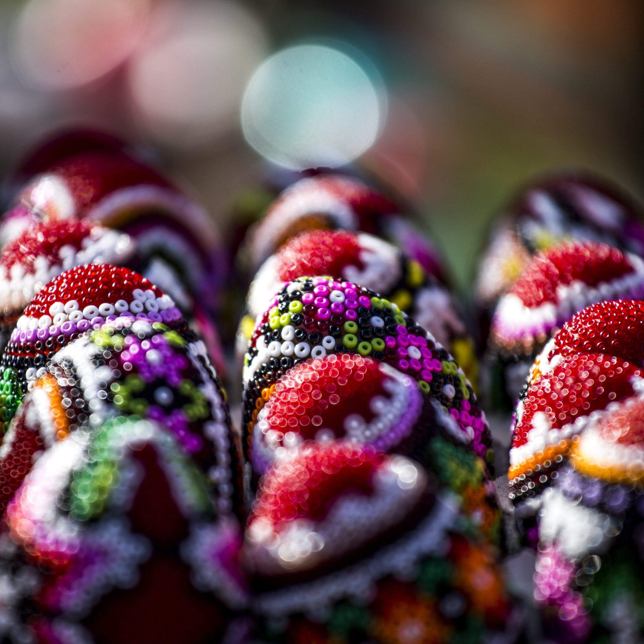 Easter eggs from Bucovina, Romania | 2224x2224 wallpaper