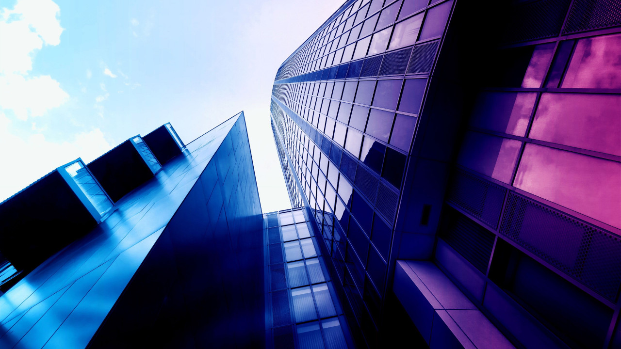 Glass building design wallpaper 1280x720
