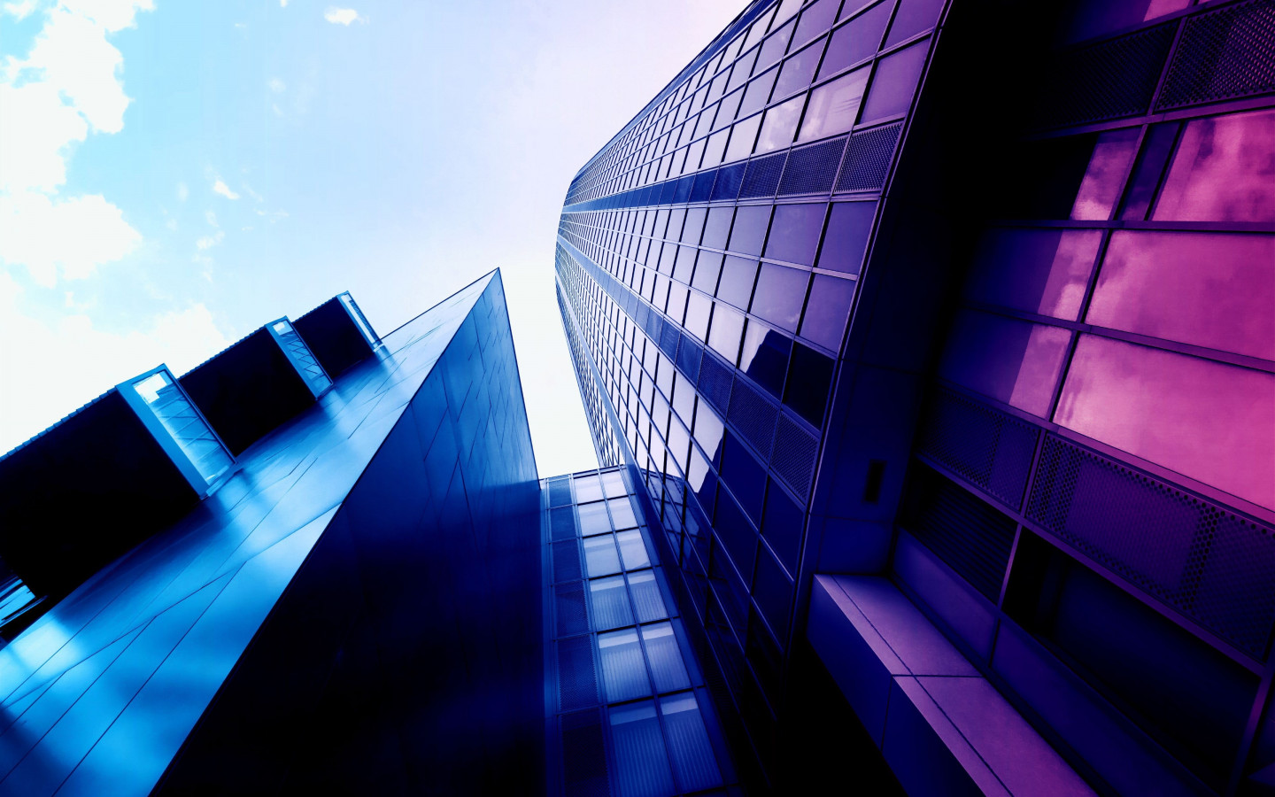 Glass building design wallpaper 1440x900