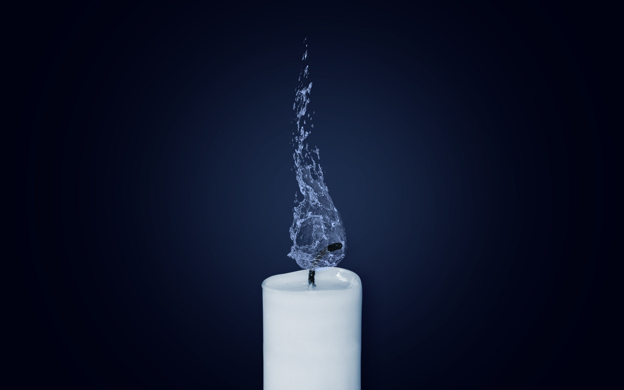 Water Flame. Candlelight | 1280x800 wallpaper