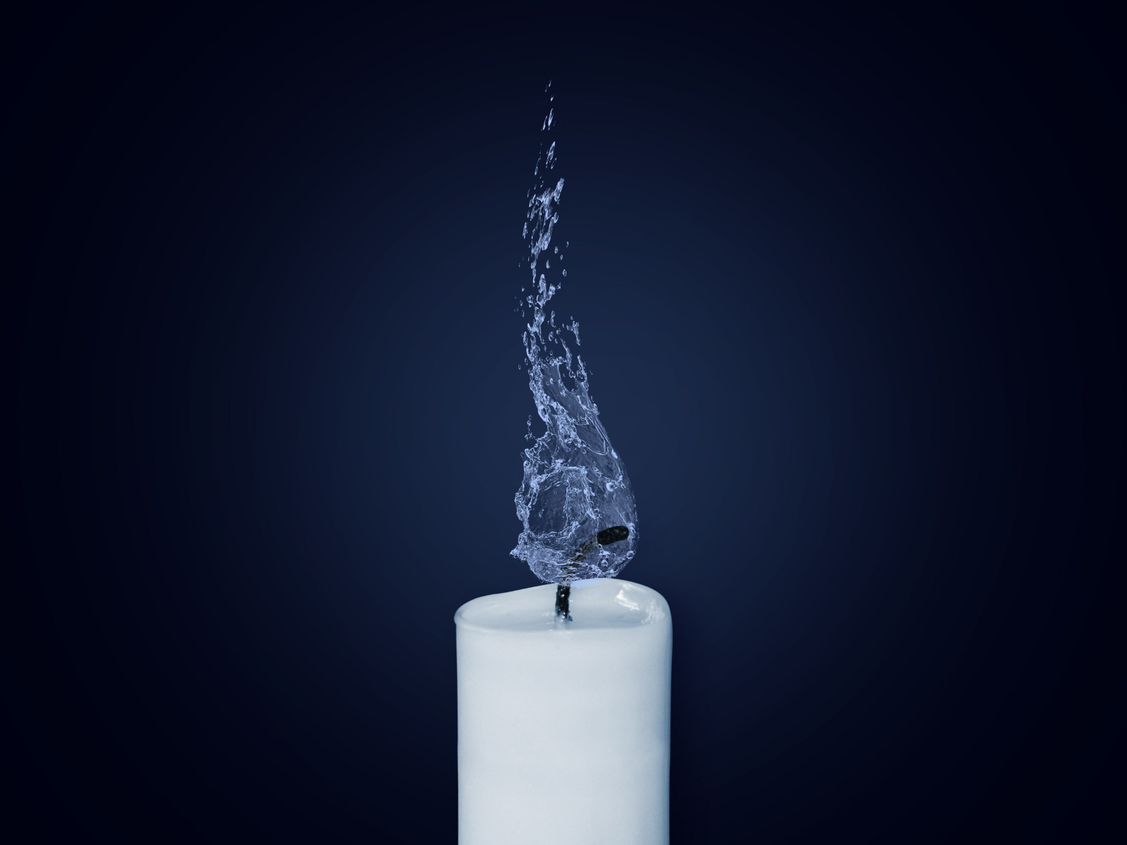 Water Flame. Candlelight wallpaper 1600x1200