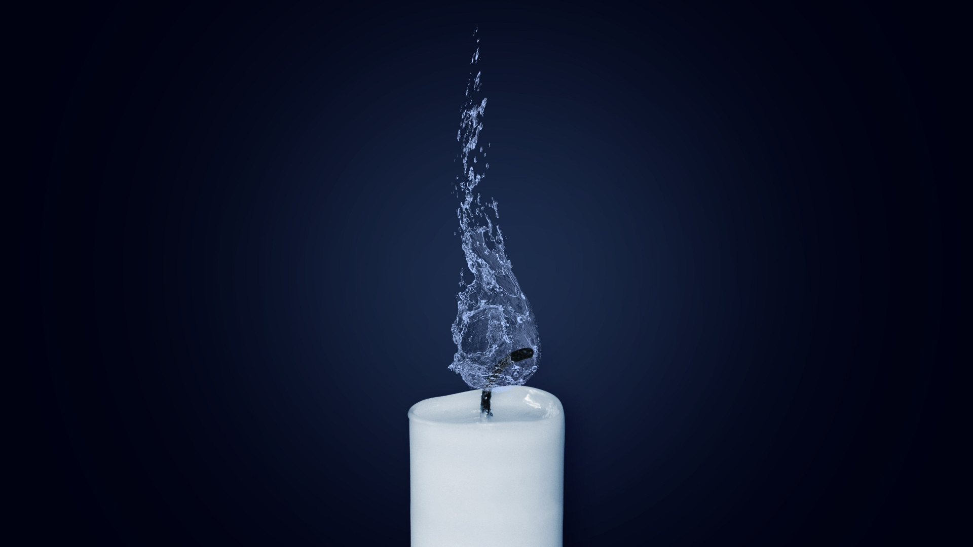 Water Flame. Candlelight | 1920x1080 wallpaper