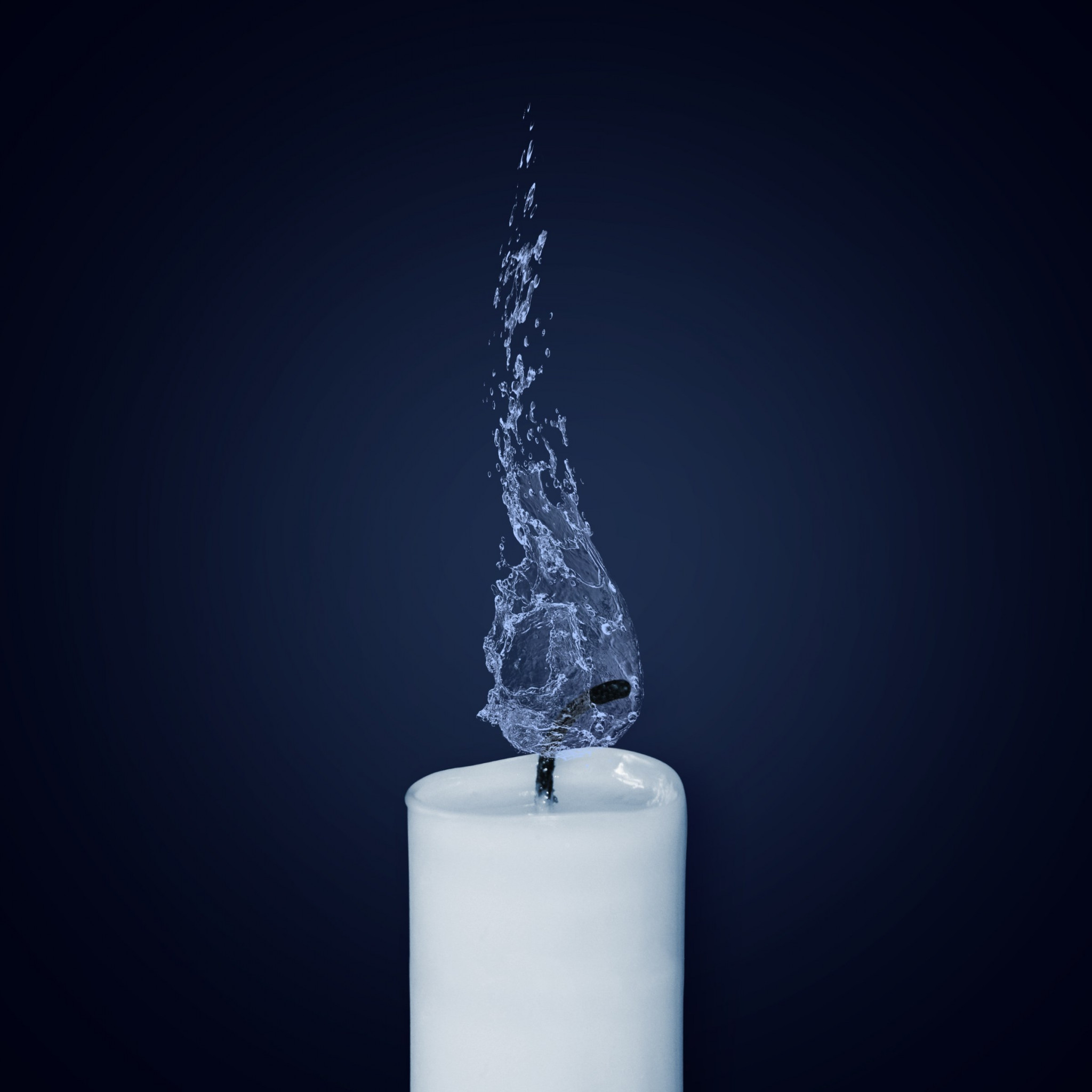 Water Flame. Candlelight | 2048x2048 wallpaper