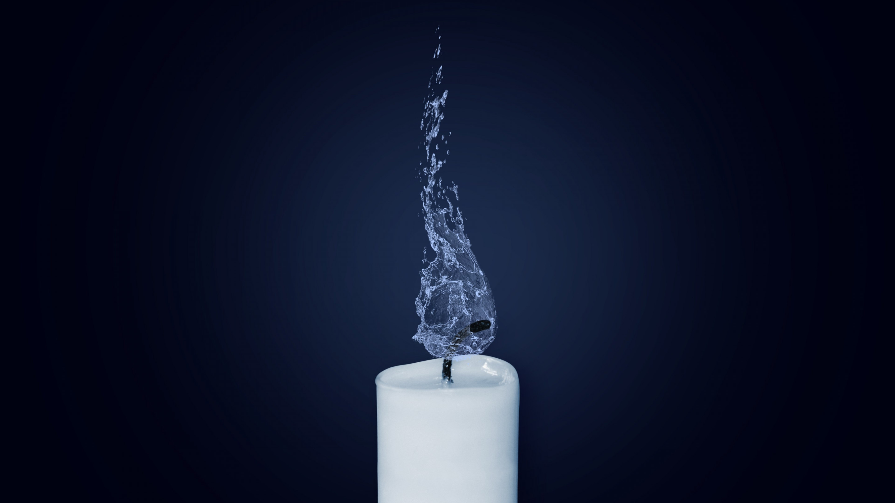 Water Flame. Candlelight wallpaper 2880x1620