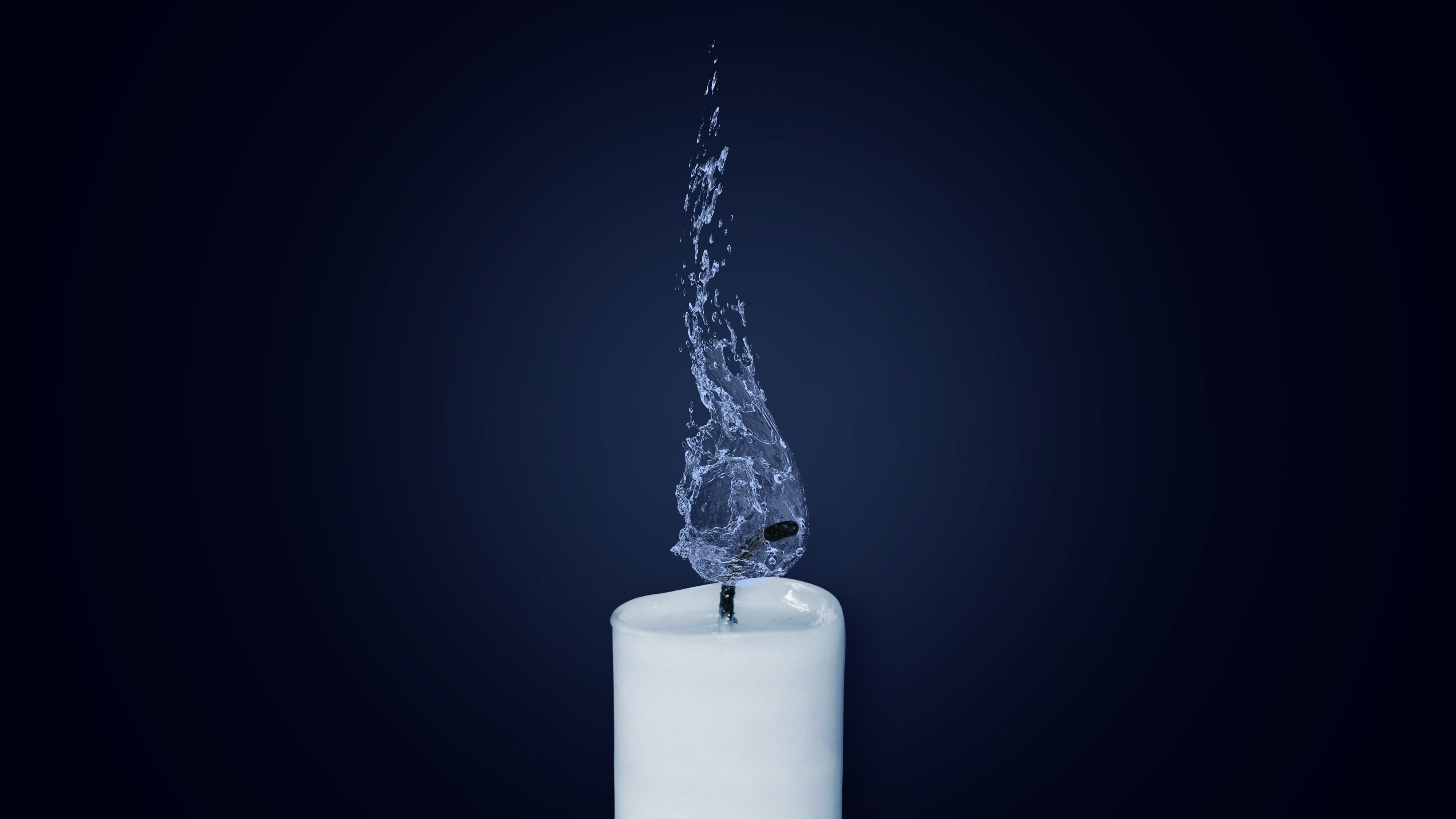 Water Flame. Candlelight | 3840x2160 wallpaper