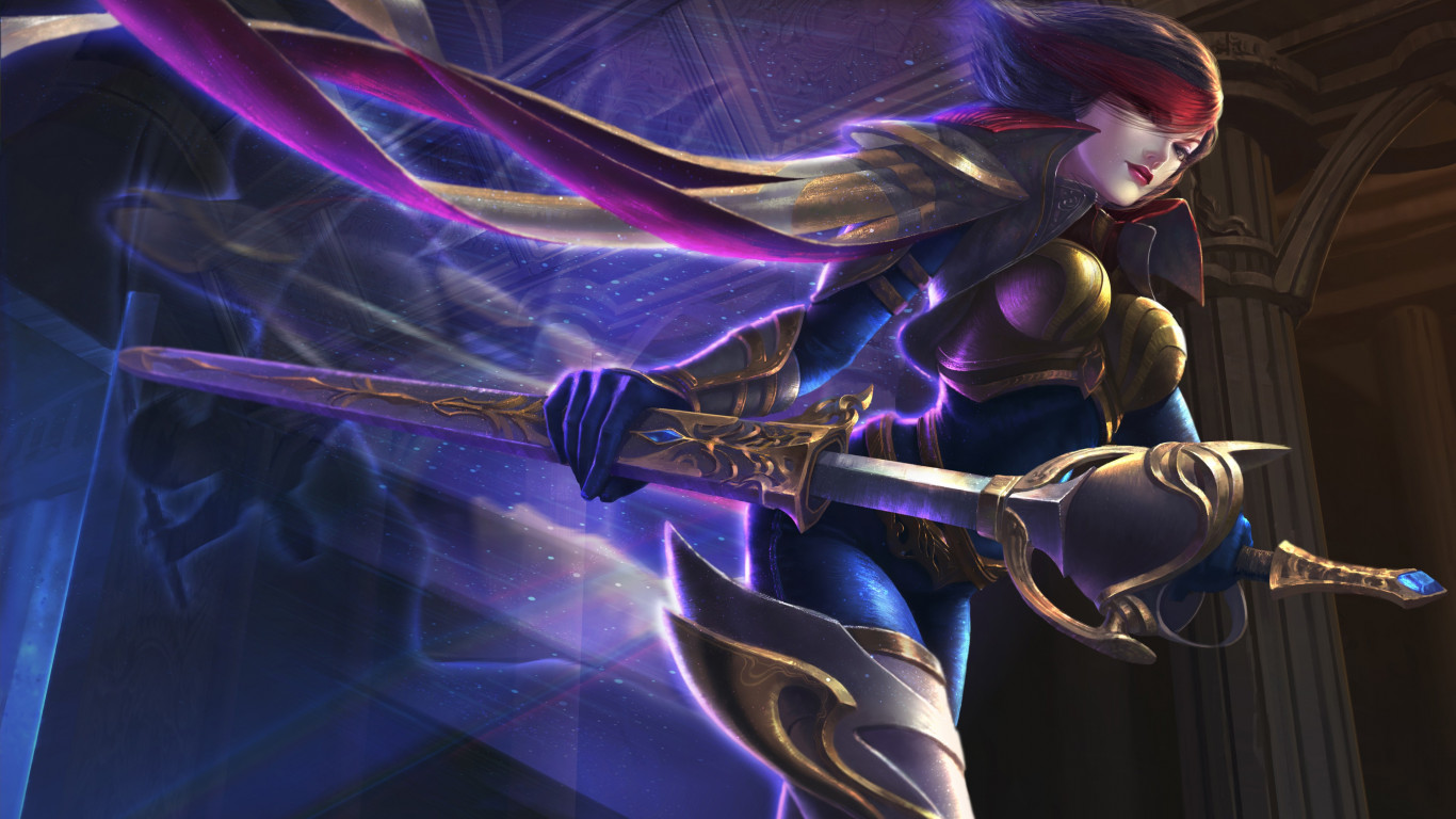 Fiora from League of Legends wallpaper 1366x768