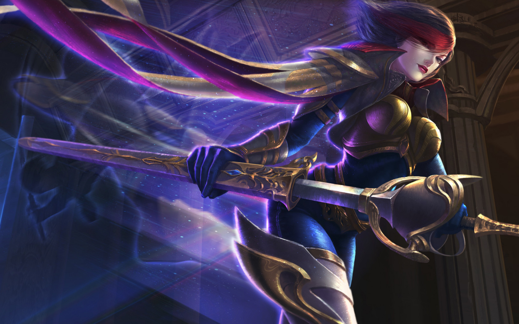 Fiora from League of Legends wallpaper 1680x1050