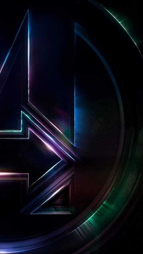 Logo of Avengers Infinity War wallpaper 480x854