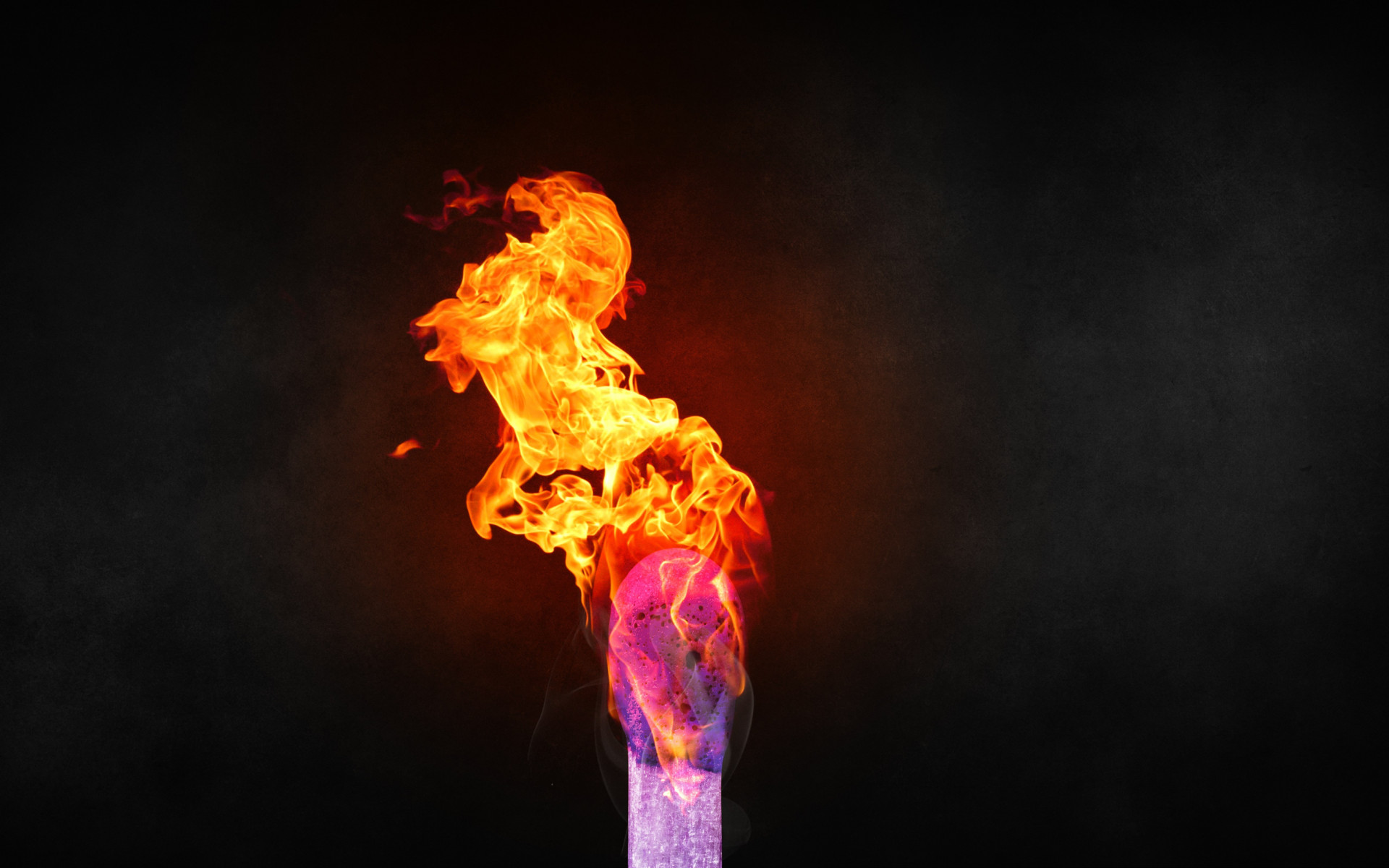 Burning match wallpaper 1920x1200