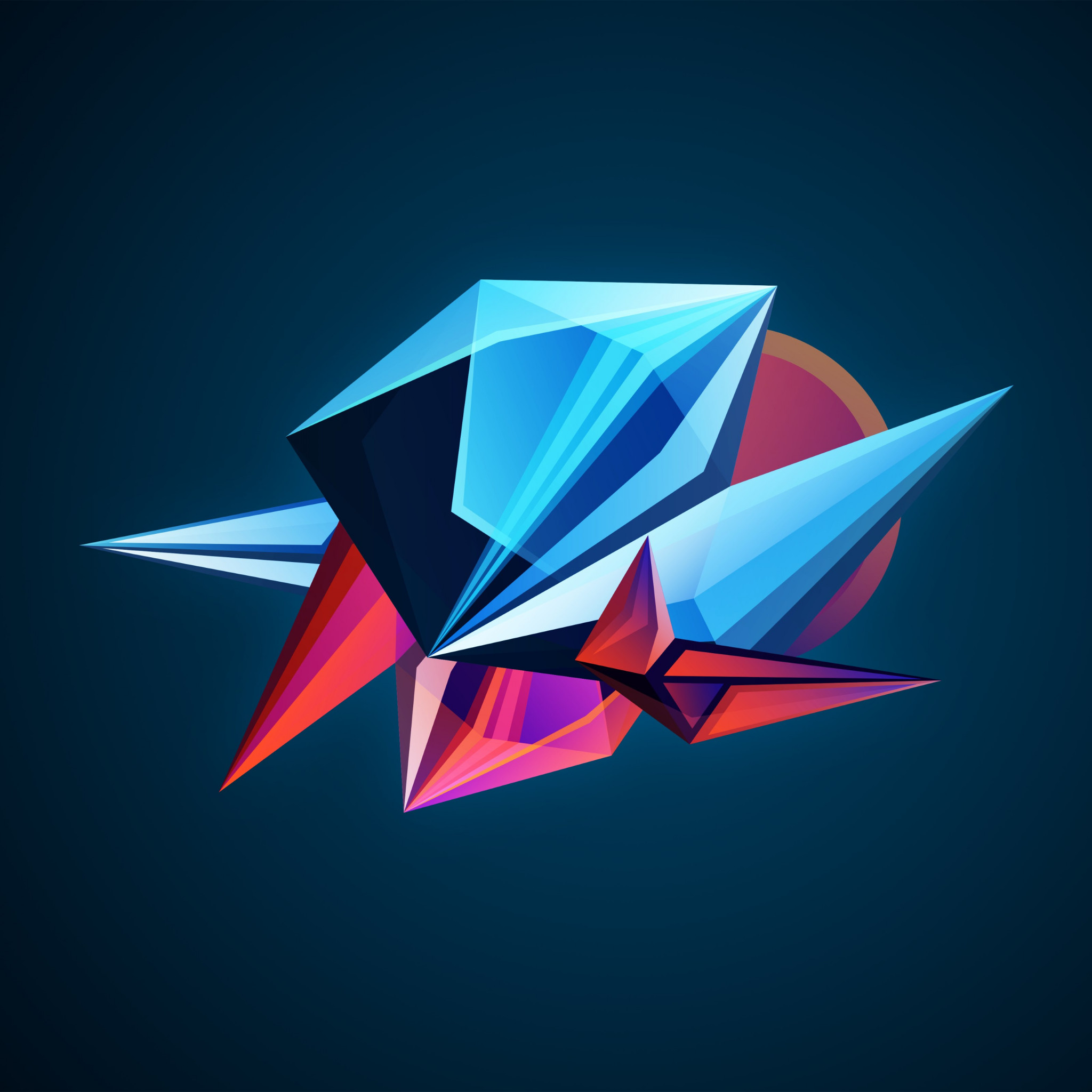 Download Wallpaper: Abstract 3D Shapes 2048x2048