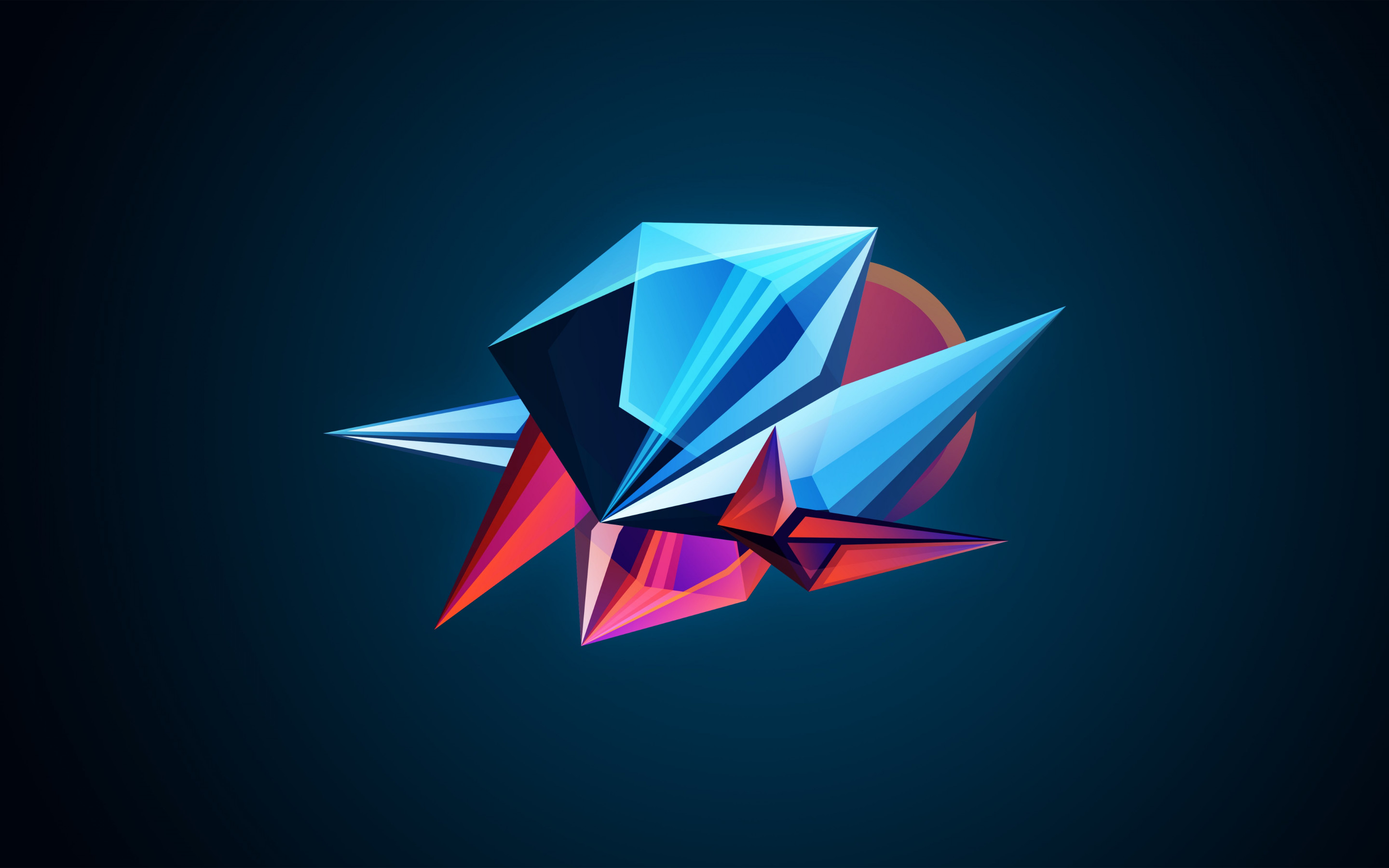 Abstract 3D shapes wallpaper 2880x1800