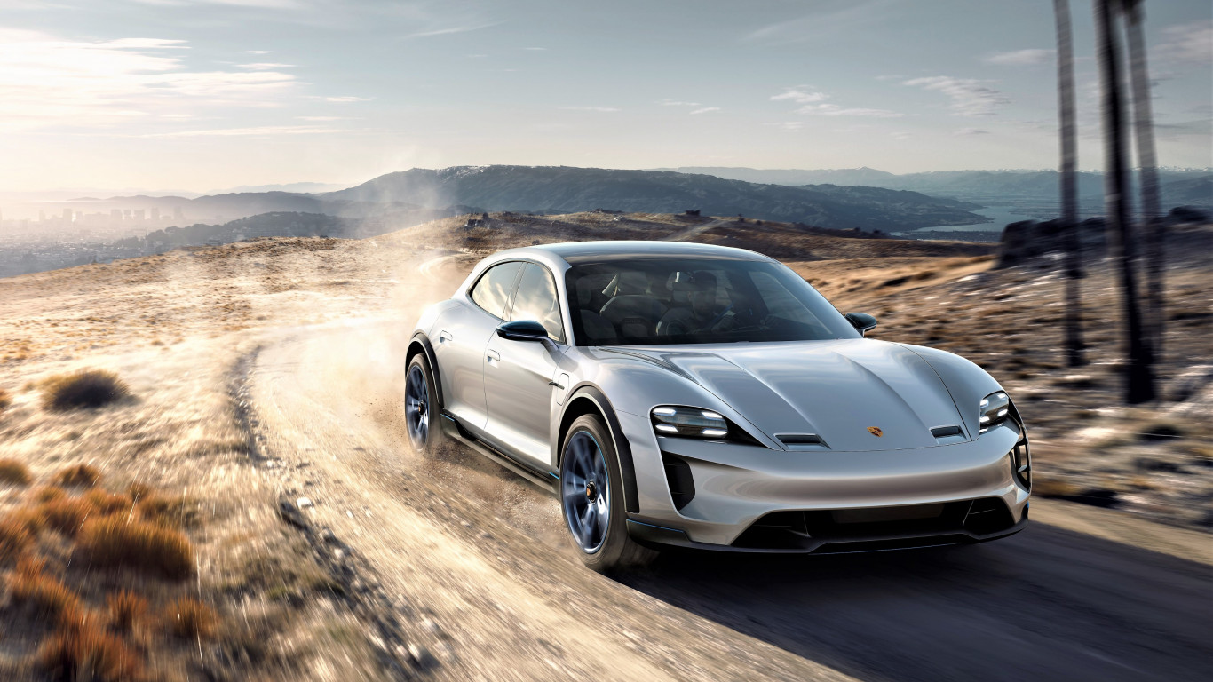 Porsche Mission E 2019 wallpaper 1366x768