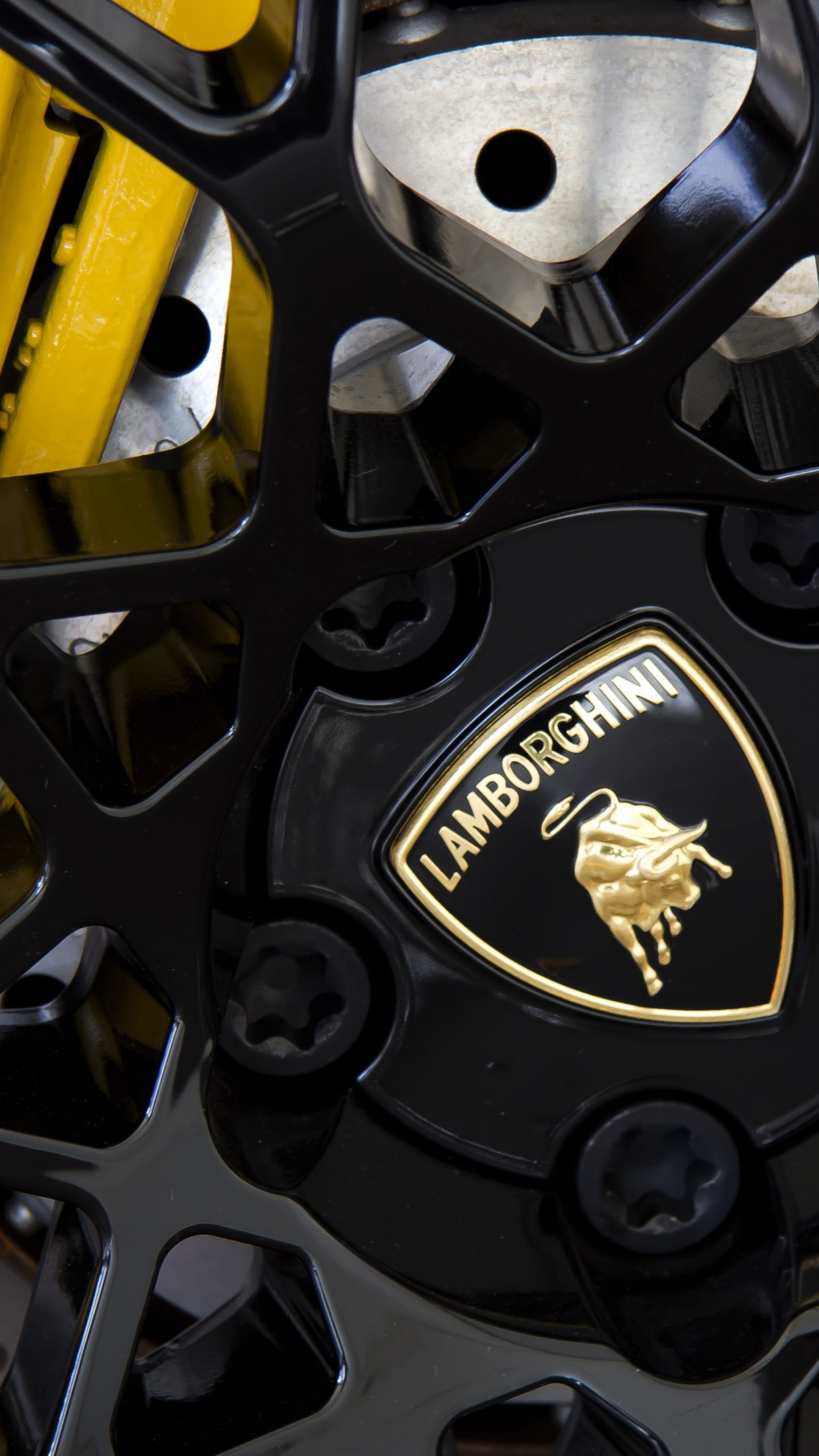 Lamborghini wheel wallpaper 1242x2208