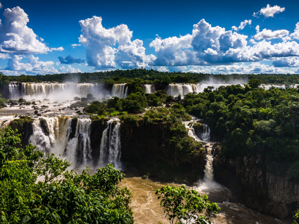 Brazilian side of Iguazu Falls | 1024x768 wallpaper