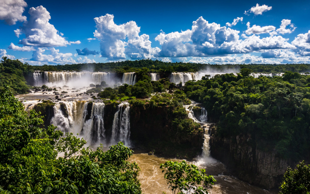 Brazilian side of Iguazu Falls | 1280x800 wallpaper