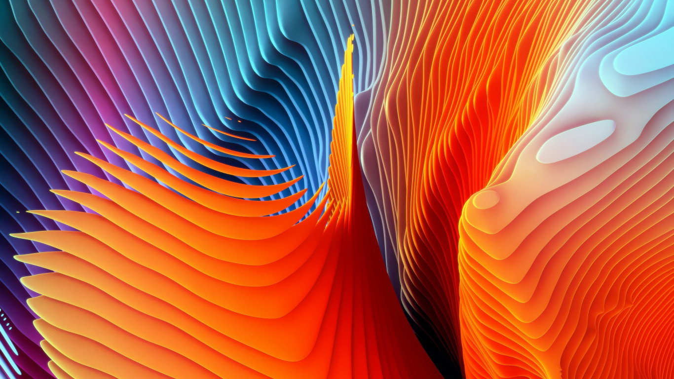 Colorful spirals wallpaper 1366x768