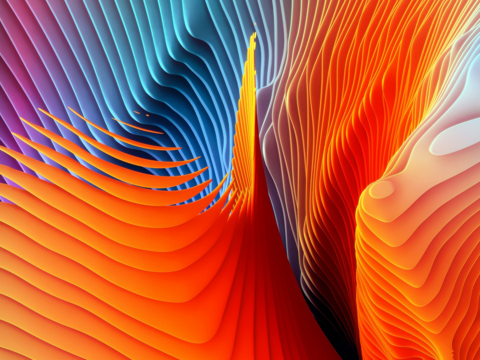 Colorful spirals wallpaper 1600x1200