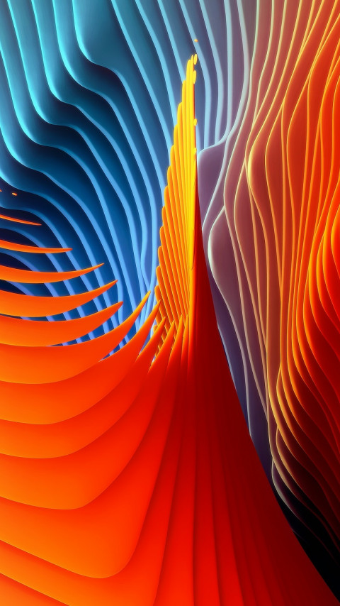 Colorful spirals wallpaper 480x854