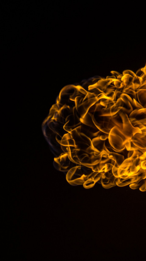 Flames effect wallpaper 480x854